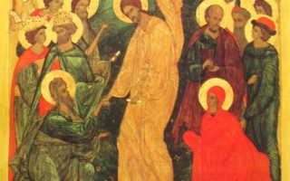 Икона «Сошествие Христа во ад» — изображение Воскресения Христа
