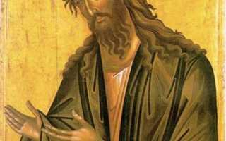 Икона Иоанна Предтечи