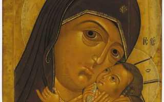 Корсунская икона Божией Матери  —  одна из первых икон-покровительниц России
