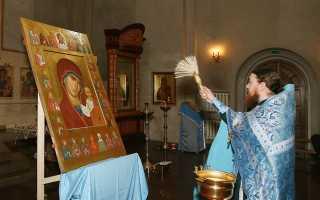 Как освятить икону в церкви