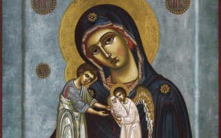 Икона «Скорбящая о младенцах во чреве убиенных» — молитва о нерожденных детях