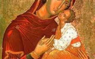 Икона Божией Матери Сладкое Лобзание