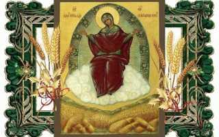 Икона «Спорительница хлебов» — молитва Богородице Спорительнице хлебов о достатке